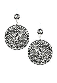 Jessica Simpson Flower Crystal Earrings