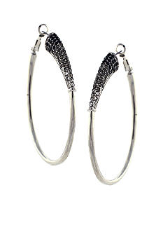Jessica Simpson Basic Silver Hoop Earrings