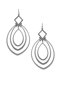 Jessica Simpson Silver Chandelier Hoop Earrings