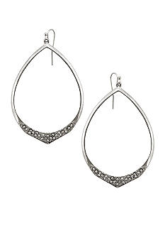 Jessica Simpson Basic Crystal Hoop Earrings