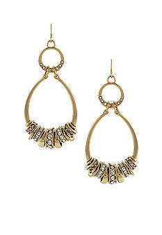 Jessica Simpson Gold Oval Earrings