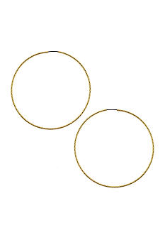 Jessica Simpson Basic Hoop Earrings
