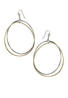 Jessica Simpson Two Tone Hoop Earrings