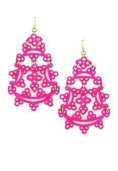 Jessica Simpson Eyelet Statement Earrings