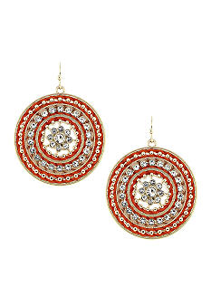 Jessica Simpson Twisted Thread Earrings
