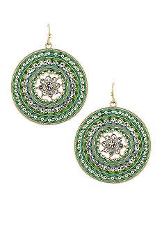 Jessica Simpson A Twist Of Color Earrings