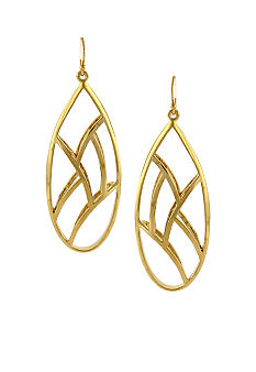 Jessica Simpson Gold Princess Drop Earrings