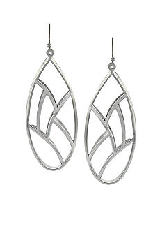 Jessica Simpson Silver Princess Linear Drop Earrings