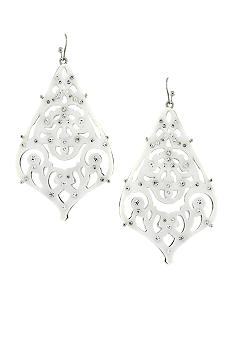 Jessica Simpson Starry Sky White Chandelier Earrings