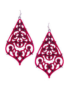 Jessica Simpson Starry Sky Hot Pink Chandelier Earrings