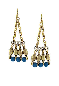 Jessica Simpson Island Belle Linear Chandelier Earrings