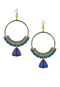 Jessica Simpson Island Belle Hoop Earrings