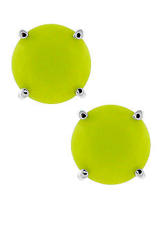 Jessica Simpson Yellow Tropic Night Stud Earrings