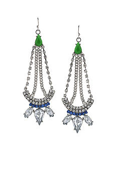 Jessica Simpson Green Tropic Nights Chandelier Earrings