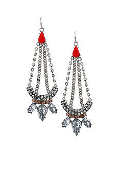 Jessica Simpson Orange Tropic Nights Chandelier Earrings
