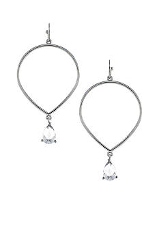 Jessica Simpson All a Flutter Crystal Drop Hoop Earrings
