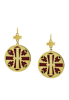Jessica Simpson Desert Traveler Drop Disc Earrings