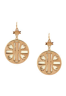Jessica Simpson Desert Rose Drop Disc Earrings