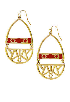 Jessica Simpson Desert Traveler Cut Out Drop Earrings