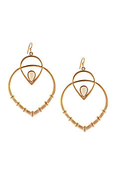Jessica Simpson Desert Rose Drop Hoop Earrings