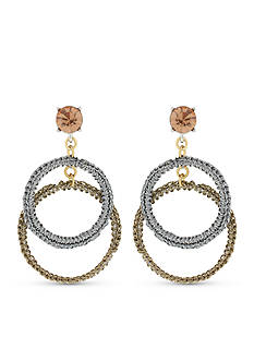 Jessica Simpson Double Drop Hoop Earrings