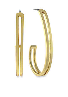 Jessica Simpson Gold-Tone Hoop Earring