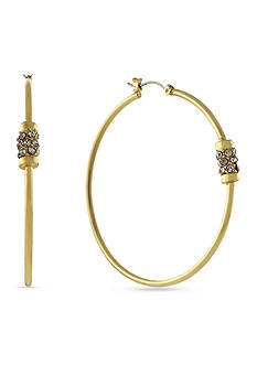 Jessica Simpson Rondelle Station Hoop Earrings