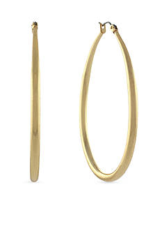 Jessica Simpson Hoopnotic Oval Hoop Earrings