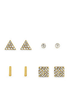 Jessica Simpson Gold-Tone Stud Earring Set