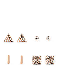 Jessica Simpson Rose Gold-Tone Stud Earring Set