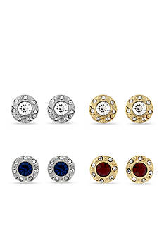 Jessica Simpson Two-Tone Halo Stud Earrings Set