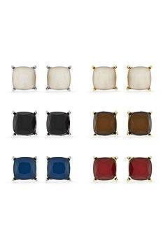 Jessica Simpson Gold-Tone Colored Stud Earring Set