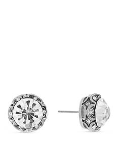 Jessica Simpson Uniform Romance Dark Channel Crystal Earrings