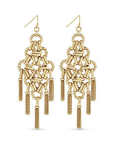 Jessica Simpson Gold-Tone Basics Chandelier Earrings