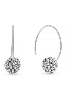 Jessica Simpson Silver-Tone Fireball C Hoop Earrings