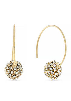 Jessica Simpson Gold-Tone Fireball C Hoop Earrings