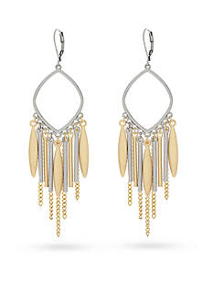 Jessica Simpson Two-Tone Mixed Metal Chandelier Earrings