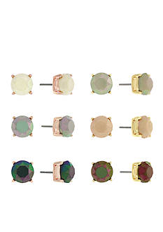 Jessica Simpson Two-Tone Colorful Stud Earrings Set