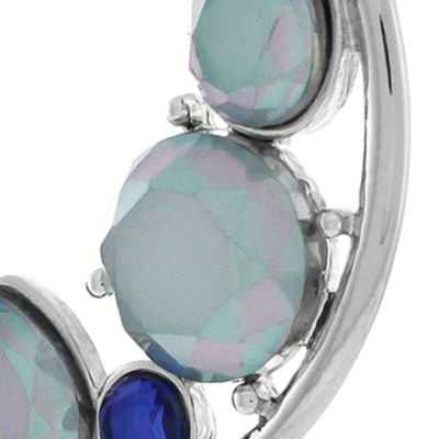 Jewelry & Watches: Jessica Simpson Fashion Jewelry: Silver Jessica Simpson Hoop To It C Hoop Earrings