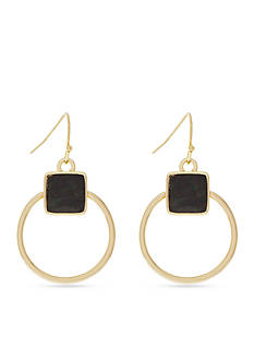 Jessica Simpson Gold-Tone Gypsy Song Hoop Earrings