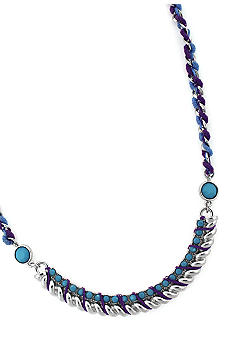 Jessica Simpson Colorful Strand Statement Necklace
