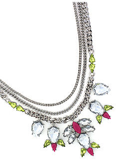 Jessica Simpson Pink Tropic Nights Drama Necklace