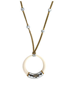 Jessica Simpson Desert Rose Circle Pendant Necklace