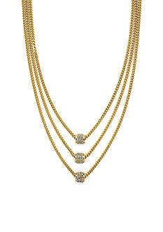 Jessica Simpson Pave Multi Layer Drop Necklace