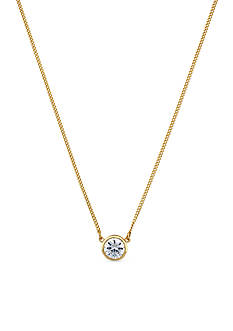 Jessica Simpson Gold-Tone CZ Frontal Necklace