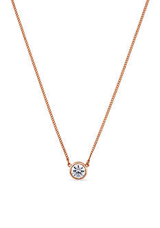 Jessica Simpson Rose Gold-Tone CZ Necklace