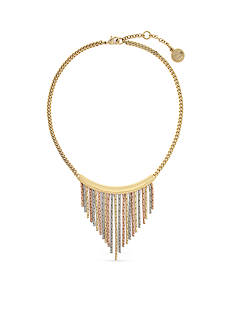 Jessica Simpson Tri-Tone Collar Necklace