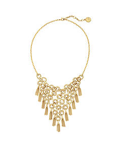 Jessica Simpson Gold-Tone Basics Circle and Fringe Statement Necklace