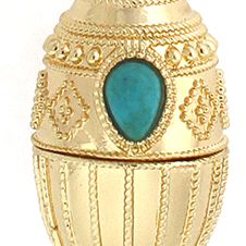 Jewelry & Watches: Jessica Simpson Fashion Jewelry: Gold Jessica Simpson Vintage Egg Pendant Necklace