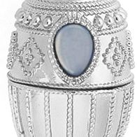 Jewelry & Watches: Jessica Simpson Fashion Jewelry: Silver Jessica Simpson Vintage Egg Pendant Necklace